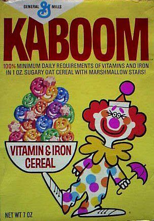 Kaboom Cereal-Wow, one of my favorite cereals from when I was a kid. I wish they still made these. Though, they are probably not good for you.