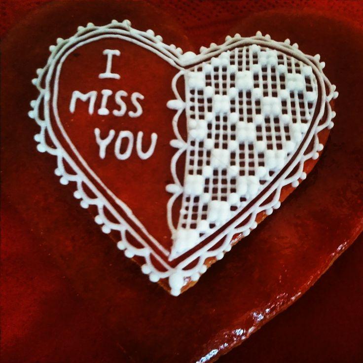 Valentine's honey cookie.