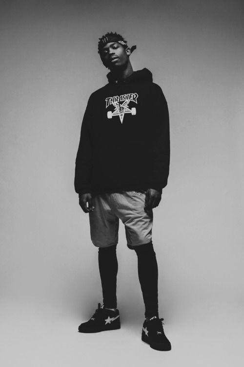 Thrasher hoodie, Bape shoes