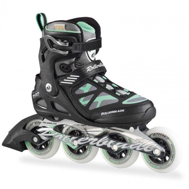 Rollerblade Macroblade 90 Womens Inline Skates - Black/Green                                                                                                                                                                                 Mais