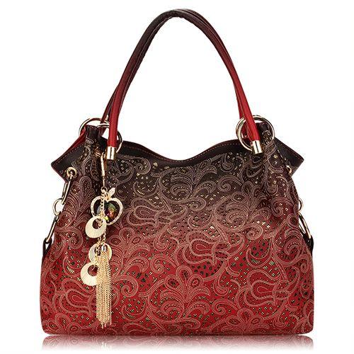 Ladies Elegant Shoulder Bag Women Design Carved Tassel Shoulder Bags  This…