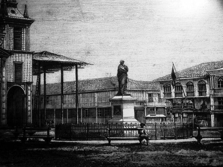Ilustración de Guayaquil antiguo