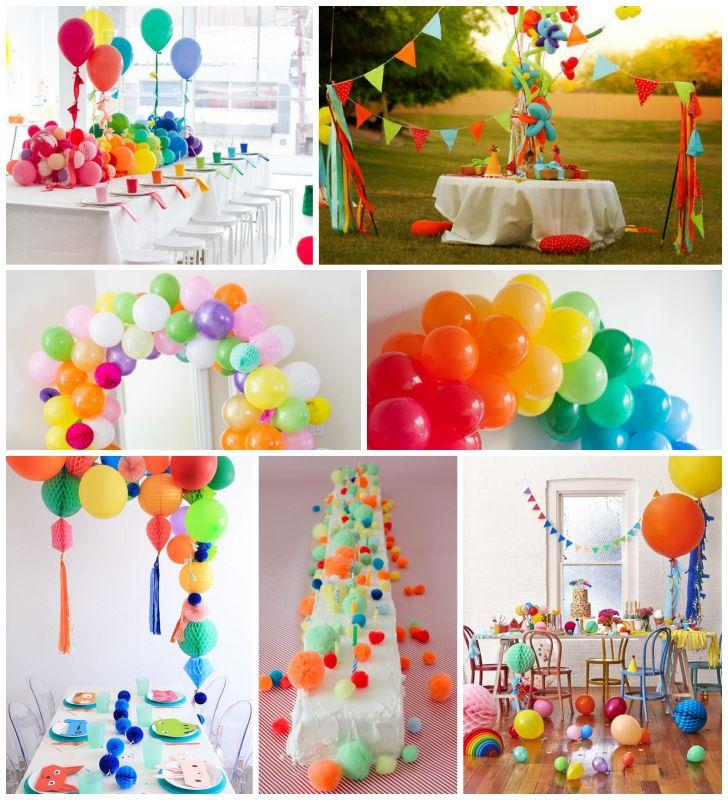ideas con globos y pompones para organizar una fiesta perfecta