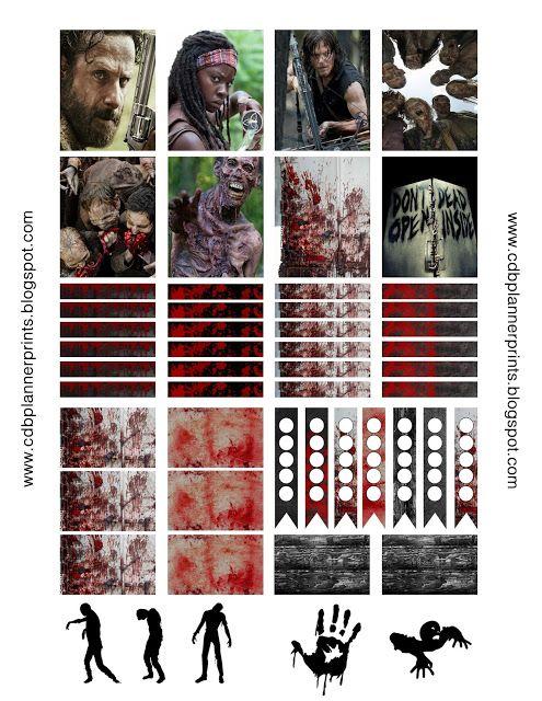 The Walking Dead planner stickers