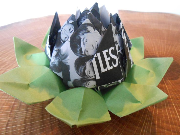 Beatles Lotus Flower. Christmas Gift, Unique First Anniversary, Home Decor, Birthday Gift. by JustCyndy on Etsy