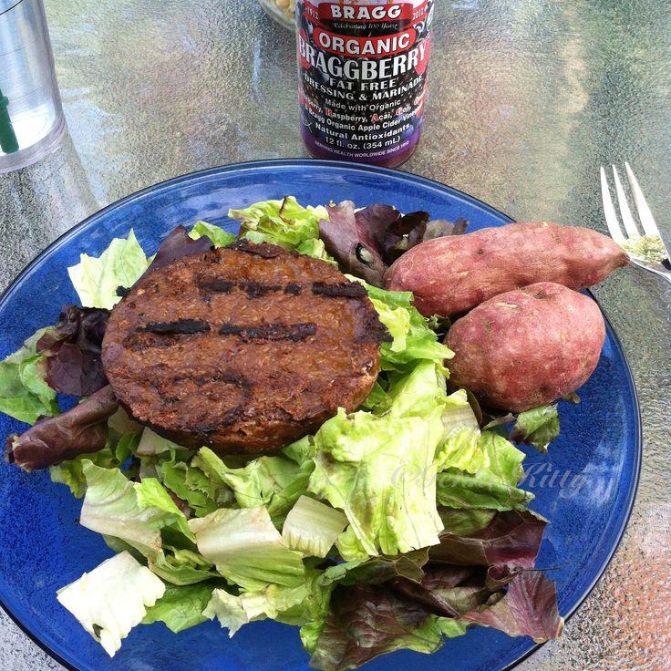 Field Roast Vegan burger dinner idea
