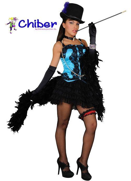 """Disfraz Cabaret: La compañia del Moulin Rouge, el célebre cabaret parisino de """"French-Cancán"""", batió seis récords mundiales, entre ellos el de levantar las piernas 720 veces en 30 segundos. Tal proeza física fue realizada por 30 bailarinas en una sola fila al ritmo del célebre aire de Offenbach."""
