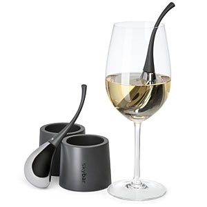 Skybar Wine Drops. Chill a glass of wine 20x faster than the fridge. nice.