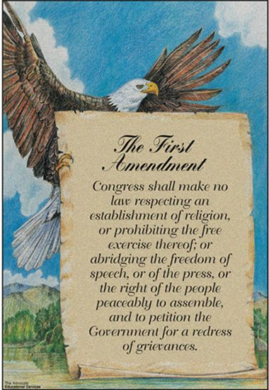 pictures of the first amendment