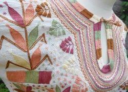 画像4: ✡メキシコ 手刺繍 ミルパブラウス 長袖✡マンタ生地