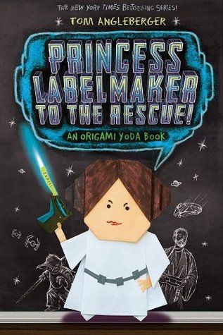 Princess Labelmaker to the Rescue: An Origami Yoda Book #5 by Tom Angleberger FIC ANG One month before the state standards tests are to take place, the Origami Rebel Alliance has found powerful allies in unexpected places in their fight against the FunTime test preparation program, but Principal Rabbski has not yet declared her allegiance.