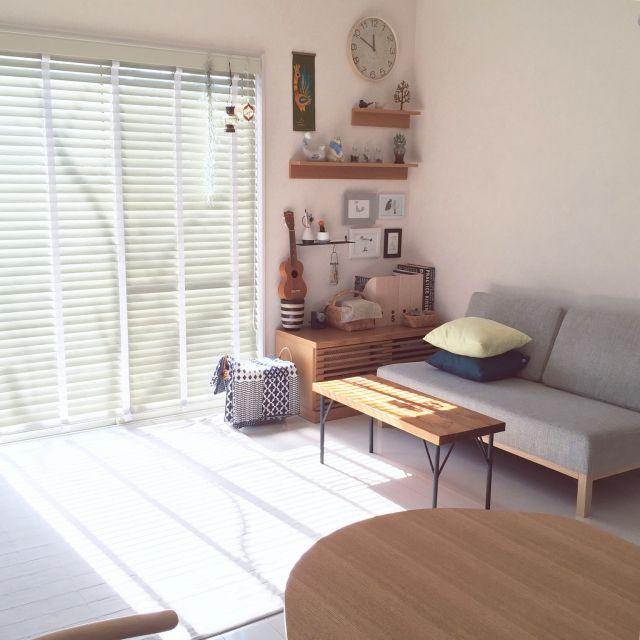 SAYOさんの、Lounge,IKEA,ソファ,北欧,北欧雑貨,北欧インテリア,DIYテーブル,無印良品 ,無印良品 壁に付けられる家具についての部屋写真