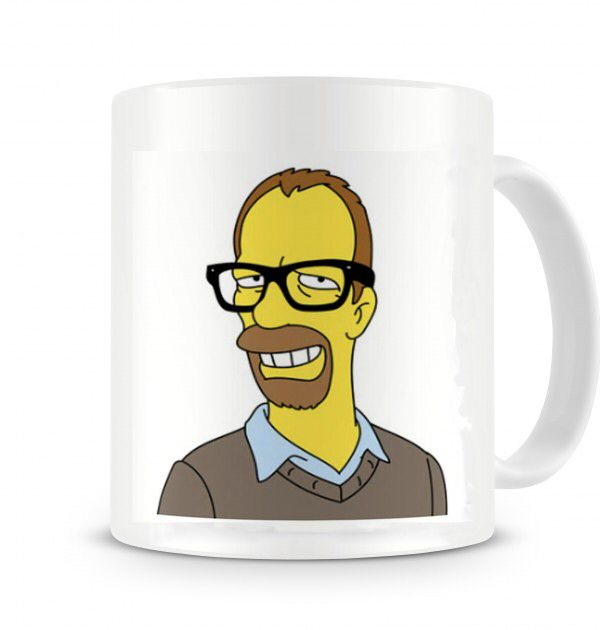 £17.99 - £20 Have a picture turned into a yellow cartoon character  Personalised photo mugs make a great way to display fun memories and make great gifts for birthdays, christenings, engagements, anniversaries, weddings, Christmas or Mother's Day or Father's Day.