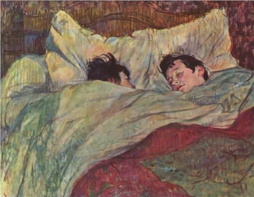 In bed - Henri de Toulouse-Lautrec