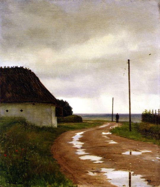 Carl Bloch (Danish, 1834-1890), Landscape from Hellebæk, 1886. Oil on panel.