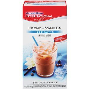 Maxwell House International Cafe Cafe-Style French Vanilla Iced Latte, 6ct