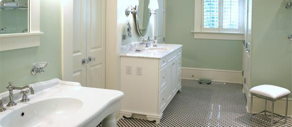 Eight inexpensive bathroom remodel ideas.