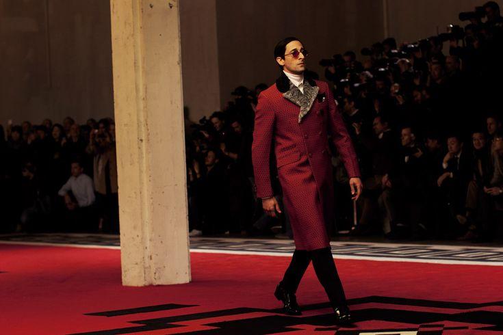 Brody PradaPrada Menswear, Prada 2012, Prada Fw, 2012 Fallwinter, Adrien Brody, Adrian Brody, Fondazione Prada, Fw 2012, Fallwinter Men