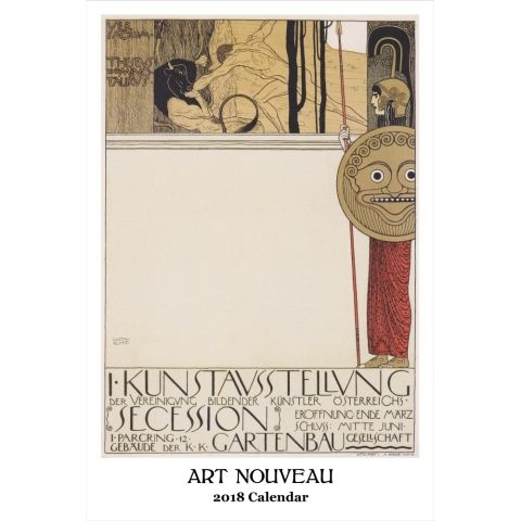 Art nouveau graphics poster wall calendar