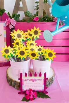 These sunflower seed party favors at this American Girl birthday party are so adorable! What a great gift! See more party ideas at CatchMyParty.com