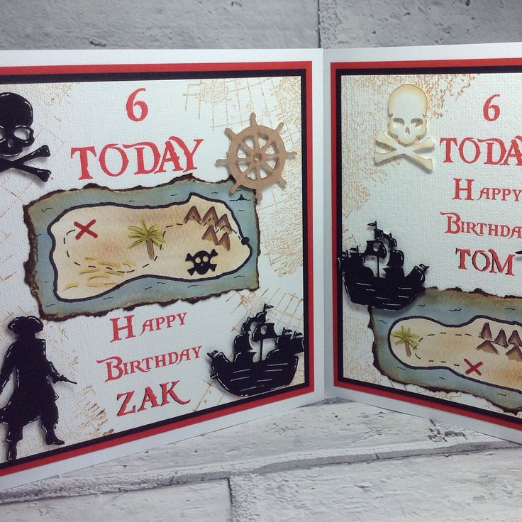 What's better than a Pirate themed birthday card?  Two of course!  Hope you had a fantastic 6th birthday Tom and Zak 😊  #pirate #pirateparty #birthdaycard #handmade #handmadecards #greetingcards #6 #6thbirthday #6today #twins #smallbusiness #smallbusinessowner #papermilldirect #papercraft #paperaddict #stationery #stationerylover #stationeryaddict