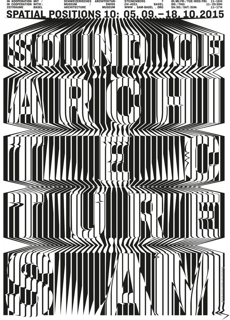 "toomanydesign: "" Affiche de l'exposition spatiale Position 10: ""The Sound of Architecture"", 1280 x 895 mm """