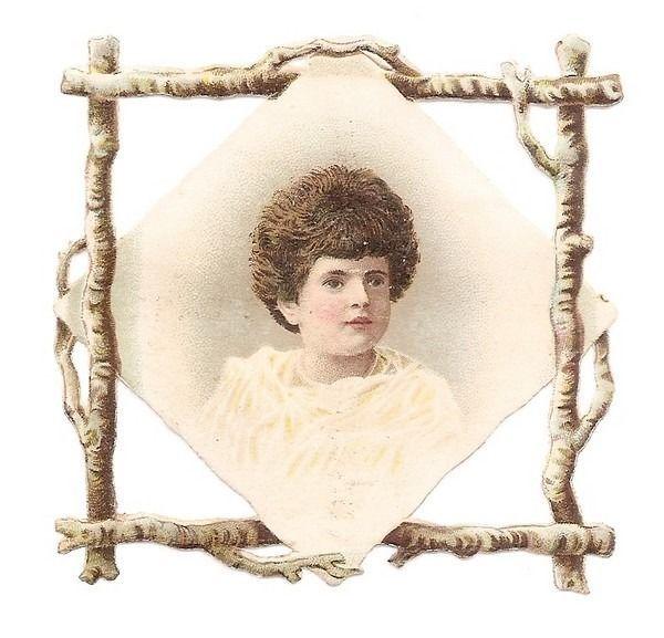 Un Enfant - - Buste   - - Chromo Decoupi  - Victorian Scrap
