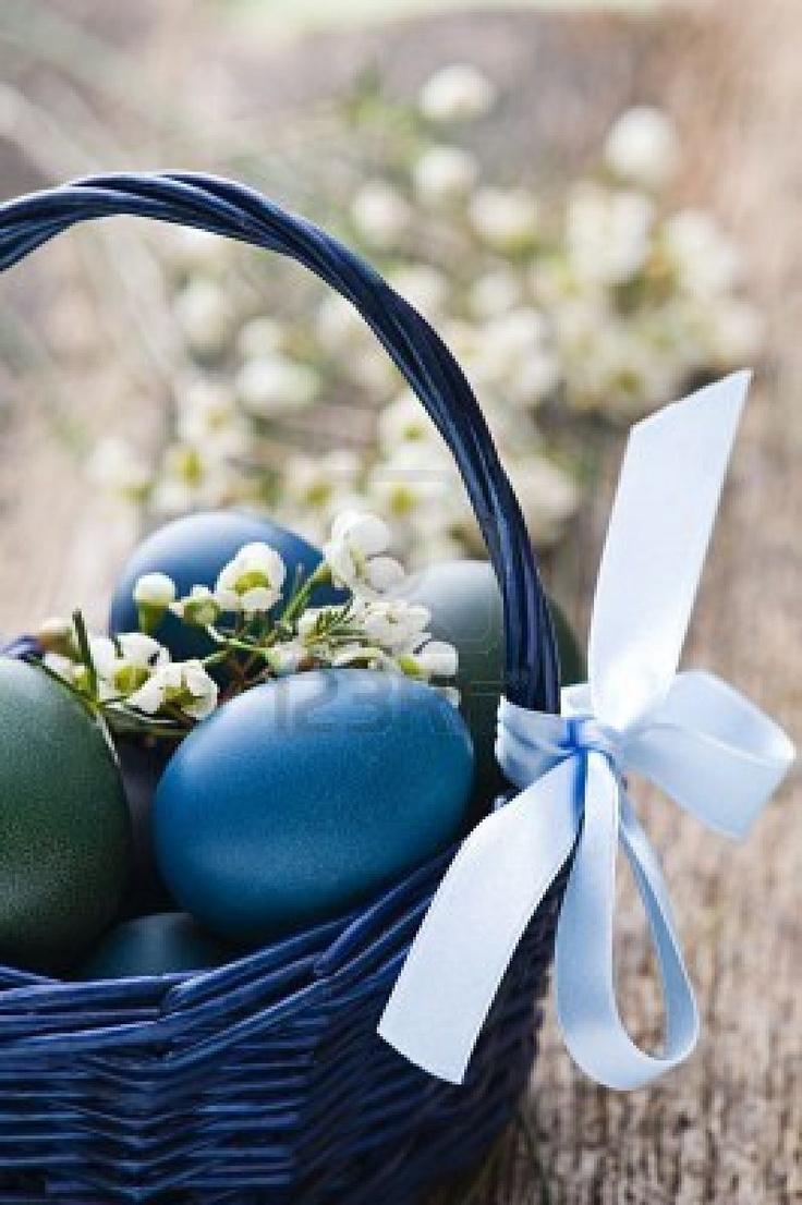 Bluish Easter Eggs..