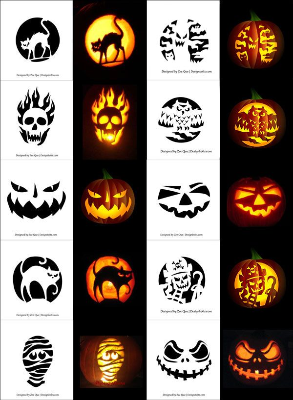 290+ Free Printable Halloween Pumpkin Carving Stencils, Patterns