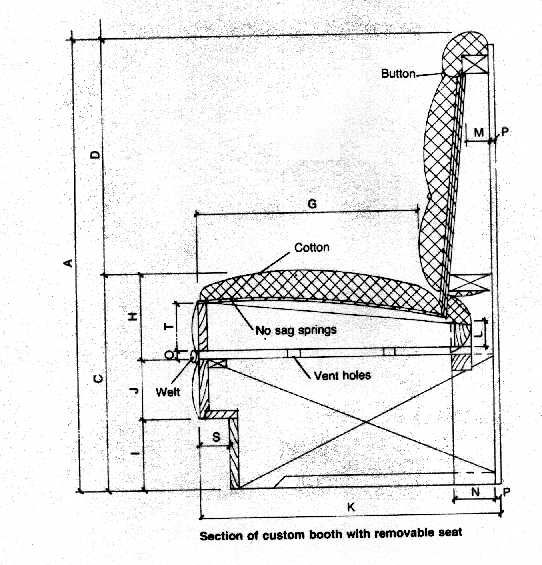 Built In Banquette Dimensions: Booth Blueprints - Google Search