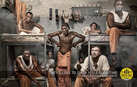 From 2010: A very theatrical campaign from South Africa made for the alcohol beverage company Brandhouse. The statement is very clear: Drive Dry otherwise jail will be the next step. Do you want a date in prison?     This years follow-up: http://osocio.org/message/whos_driving_you_home_tonight/