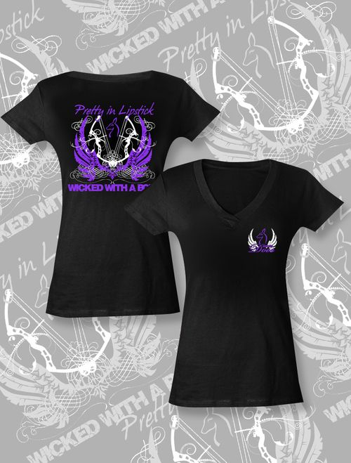 Just for Does Wicked with a Bow- Black and Purple