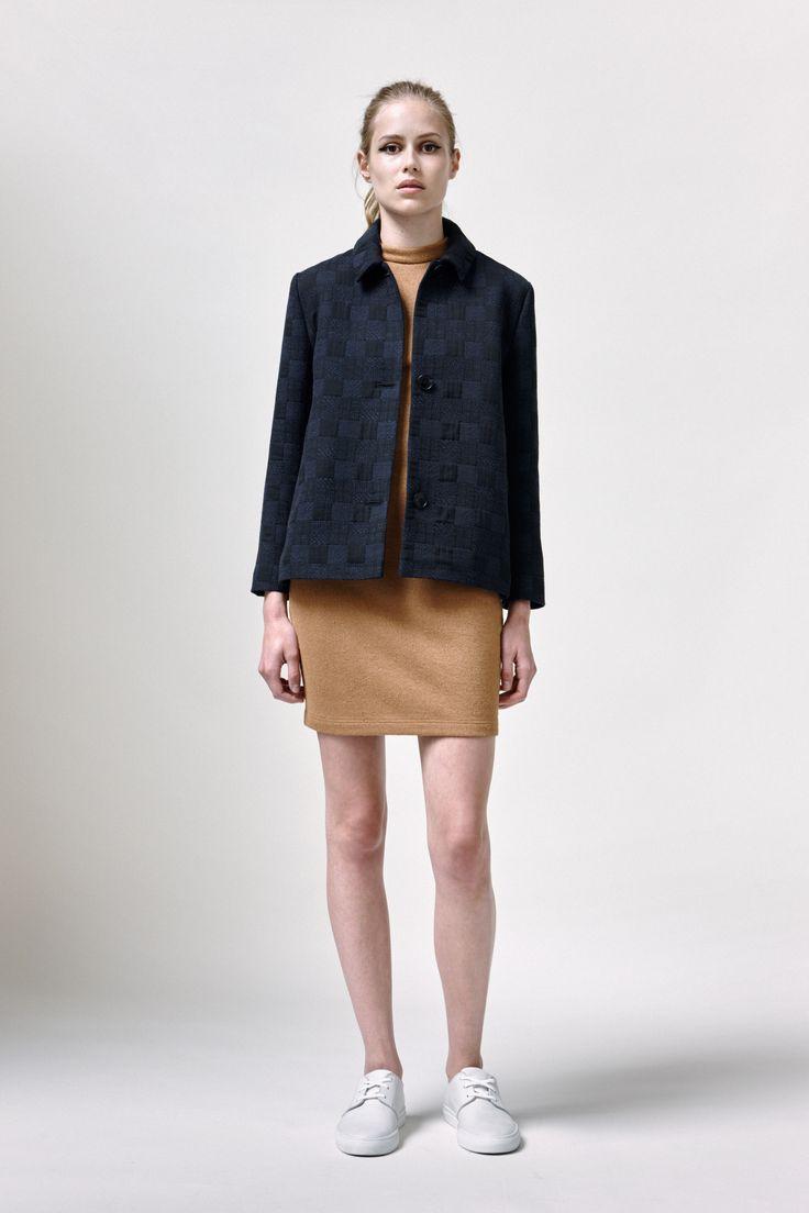 Nani Coat, Perralie Dress and Leather Sneakers | Samuji SS16 Seasonal Collection