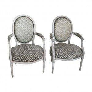 Pair of Louis XVI French Antique Chairs