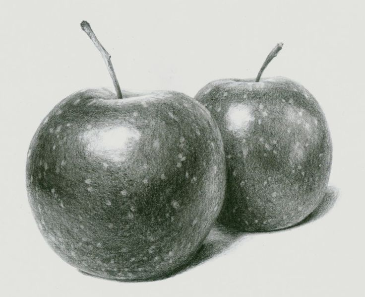 How to draw realistic apples