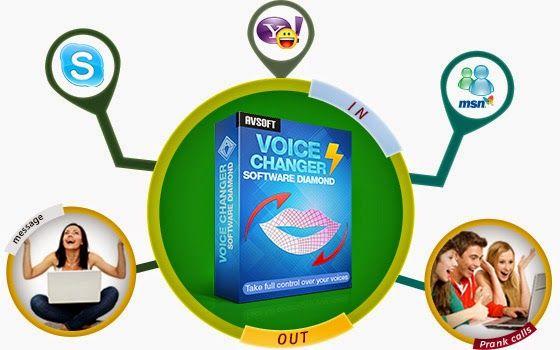 AV Voice changer diamon 8 final merupakan sebuah software sempurna untuk mengganti suara percakapan secara real time untuk skype, MSN, Yahoo Messenger, Paltalk dan lainnya, software ini memiliki built in suara anak-anak, kakek-kakek, suara wanita, gadis muda, laki-laki, pria dewasa, nenek dll. Sekarang anda bisa melakukan panggilan lelucon secara online menelepon teman anda dengan suara anak dan menggoda mereka dengan suara nenek-nenek genit.