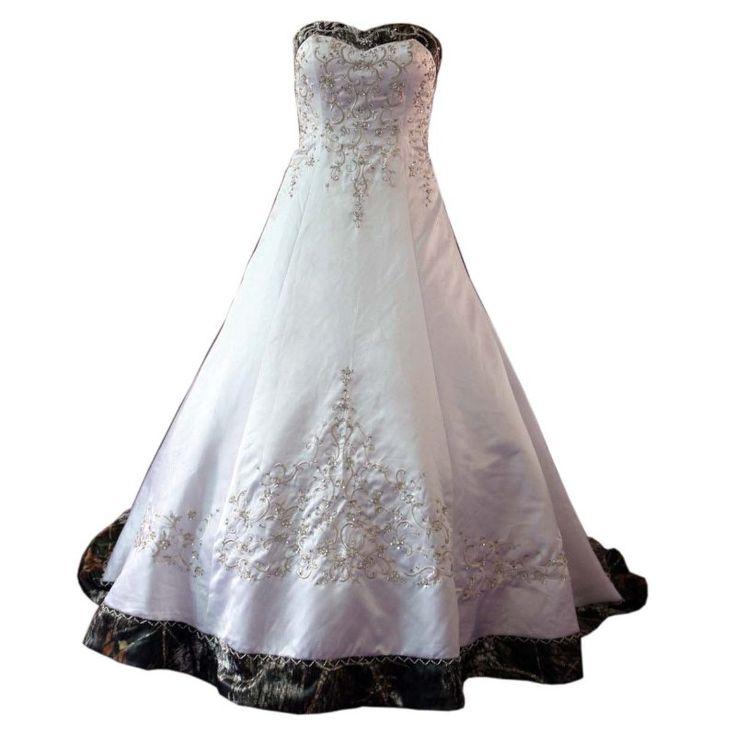 Fashion White with Camo Sweetheart Wedding Dresses 2017 Embellished Beaded Corset Back Vestidos De Novia Wedding Bridal Gowns