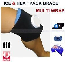 ICE & HEAT PACK BRACE STRAP-KNEE CALF ELBOW NECK HAMSTRING INJURIES PAIN RELIEF