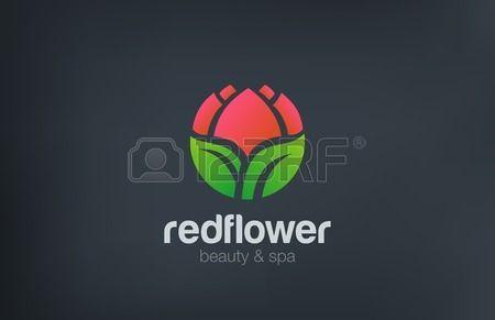 Estratto Logo forma del cerchio modello di progettazione vettoriale Fiore. Concetto di bellezza Spa Cosmetics logo. Flower Garden negozio icona.