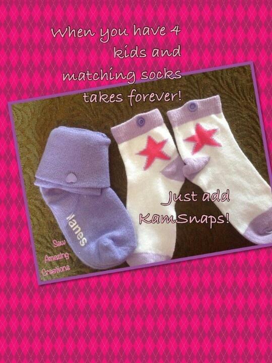 Kam snap socks. Brilliant! www.KAMsnaps.com
