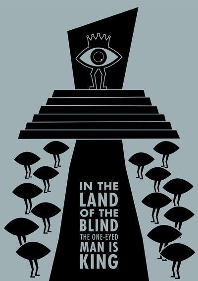 Who is the real blind man