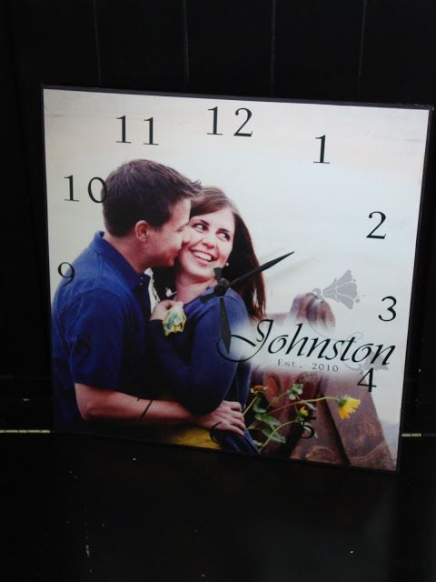 Cute diy personalised clock including instructions