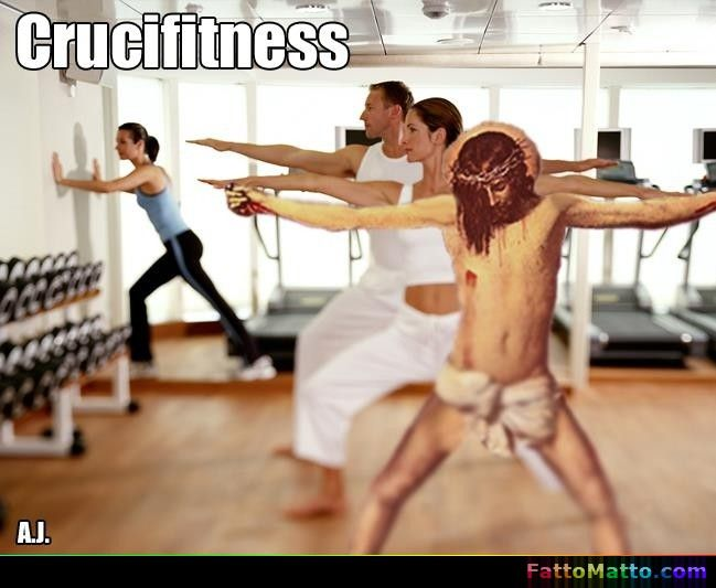 Crucifitness - via FattoMatto.com #FattoMatto