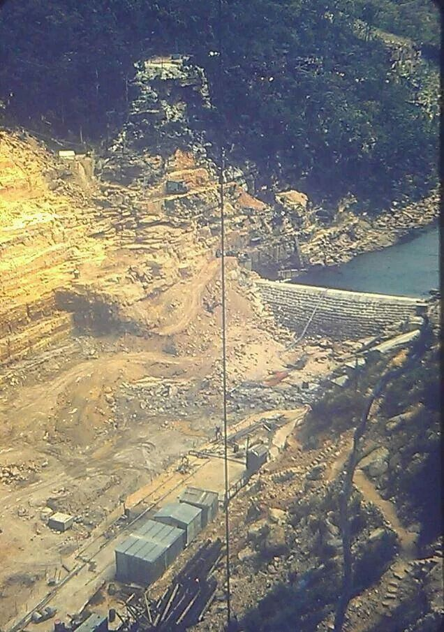 The beginnings of Warragamba Dam in 1951-1952.Slide photo from a Mr Try.A♥W