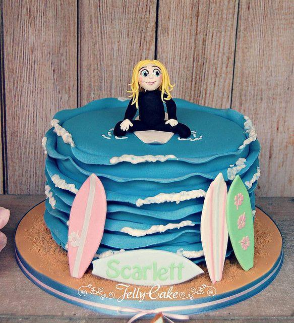 Surfing Fun Birthday Cake | Flickr - Photo Sharing! Surfing Fun Birthday Cake Sugar surfer and surf boards.