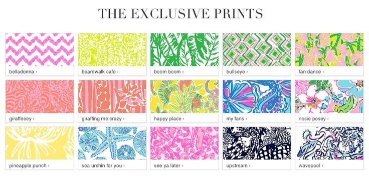 Lilly Pulitzer Pattern Names