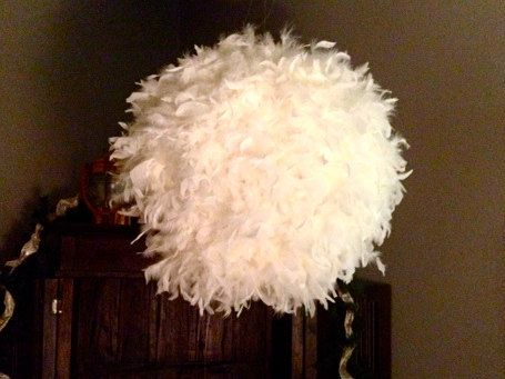 17 Best Images About Feather Lamp Shade Ideas On Pinterest