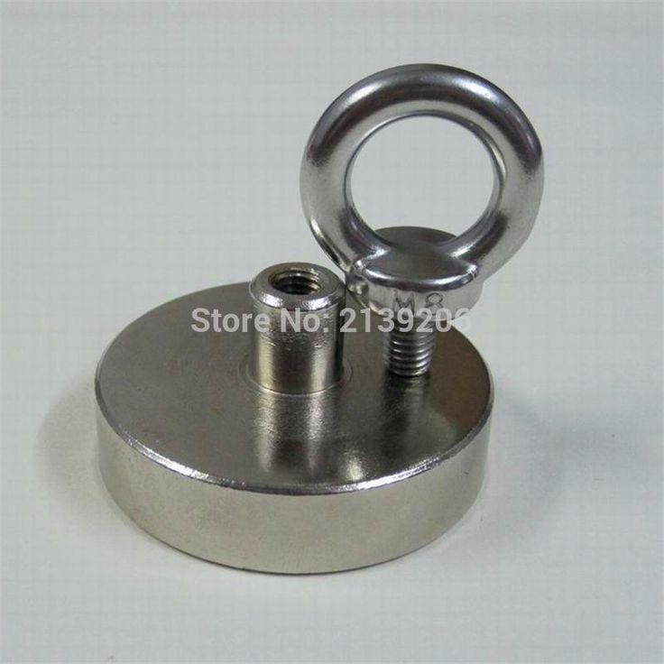 1 pcs 110 kg Menarik D60mm terkuat kuat neodymium Magnet Pot dengan cincin Pemasangan alat tangkap, deap sea penyelamatan peralatan
