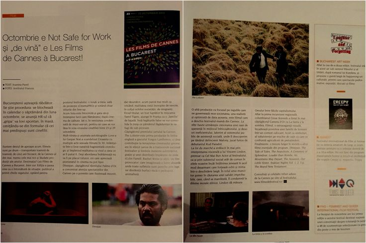 The #film #festivals of early autumn 2015: #lesfilms #Nsfw because of Love and avid film buffs ❤️ + #Animest and the 1st edition og #FAQiff  - in Igloo mag, October issue