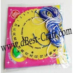 Bisa bikin tali tas rajutan dengan seni tali dari Jepang ini.  Kumihimo Disc Lingkaran - Warna - 8cm